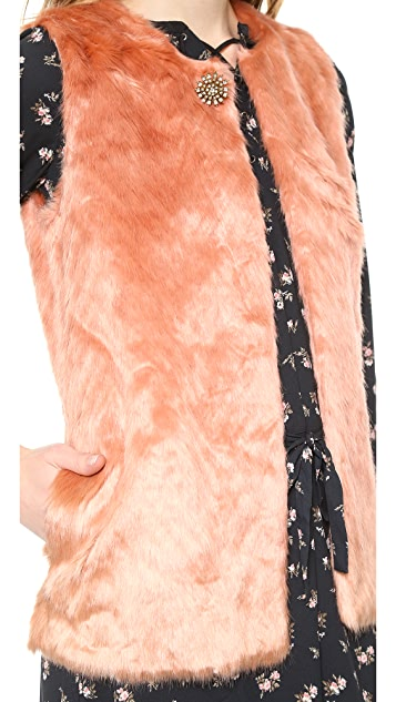 Scotch & Soda/Maison Scotch Faux Fur Vest