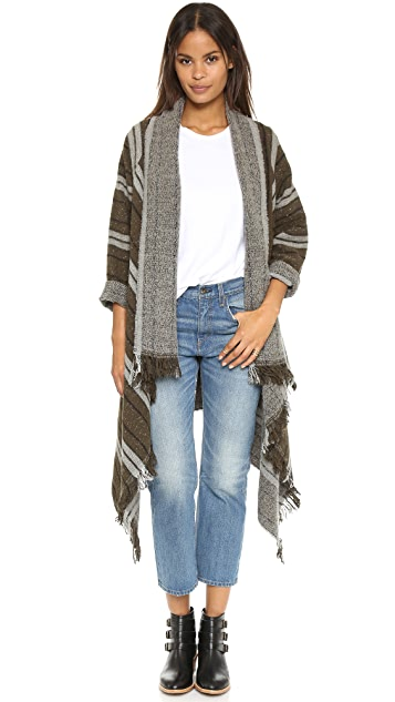 Scotch & Soda/Maison Scotch Wool Blend Poncho