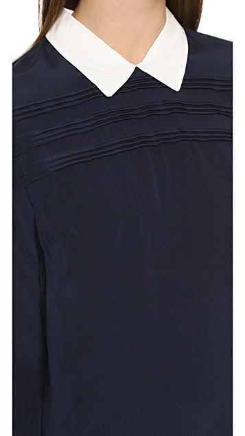 Scotch & Soda/Maison Scotch Collared Silk Mini Dress