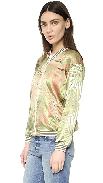 Scotch & Soda/Maison Scotch Palm Print Bomber Jacket