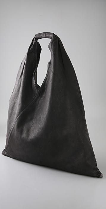 MM6 Leather Slouch Bag