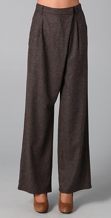 MM6 Asymmetrical Wide Leg Pants