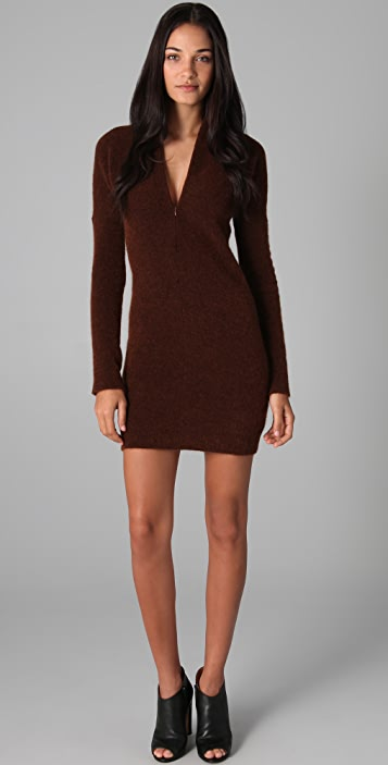 MM6 V Neck Sweater Dress