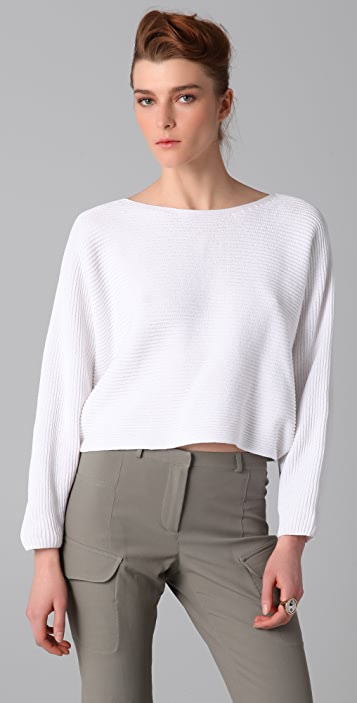 MM6 Cropped Dolman Sleeve Sweater