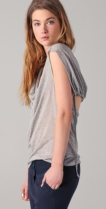 MM6 Scoop Neck Top w/ Back Tie Detail