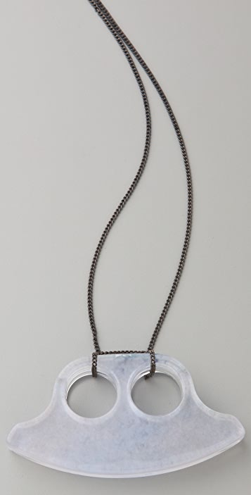 MM6 Lucite Double Necklace / Ring
