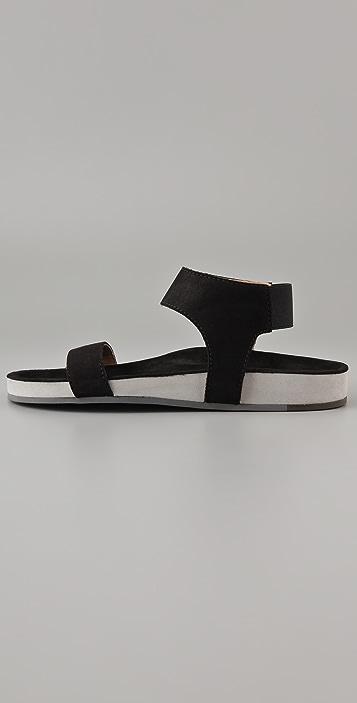 MM6 Molded Footbed Flat Sandals