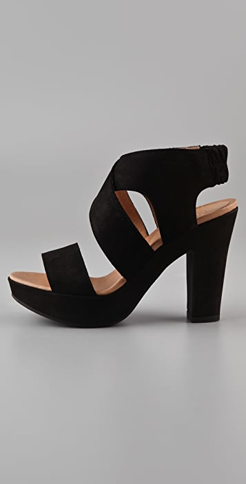 MM6 Crisscross Platform Sandals