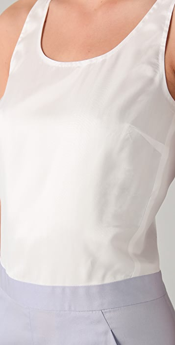 MM6 Sleeveless Combo Jumpsuit
