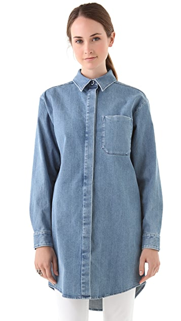 MM6 Oversized Denim Shirt