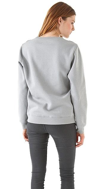 MM6 Cutout Argyle Sweatshirt