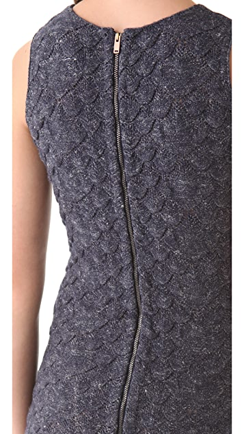 MM6 Textured Sleeveless Dress