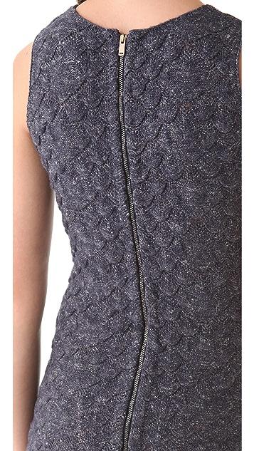 MM6 Textured Sleeveless Dress