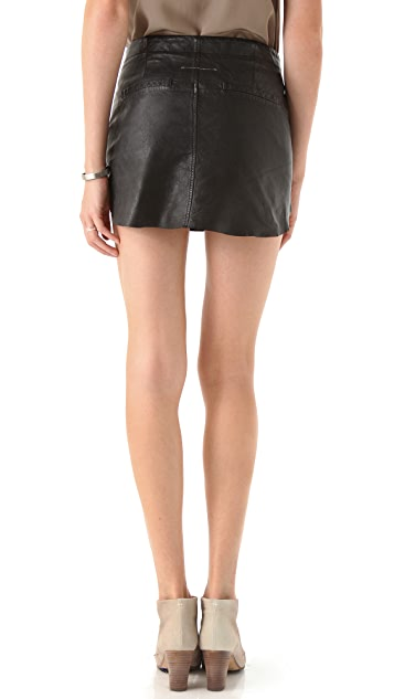 MM6 Leather Miniskirt