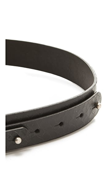 MM6 Python Embossed Belt