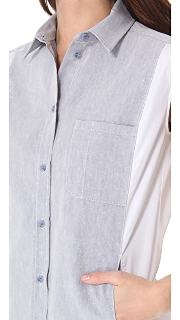 MM6 Paneled Sleeveless Tunic Dress
