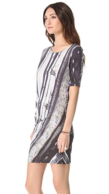MM6 Printed Twist Dress