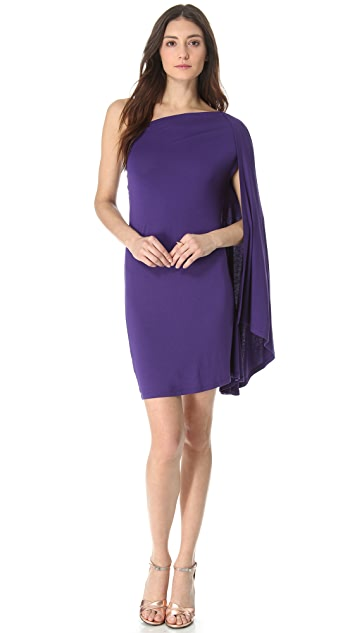 MM6 One Shoulder Drape Dress