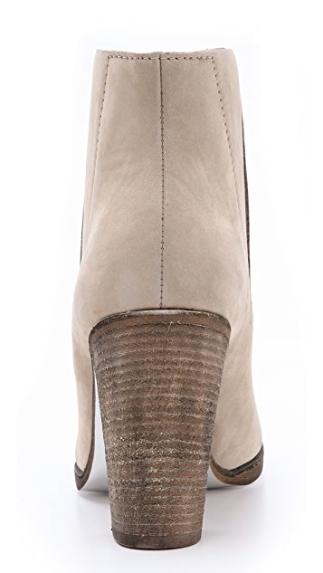 MM6 Metallic Sole Suede Booties