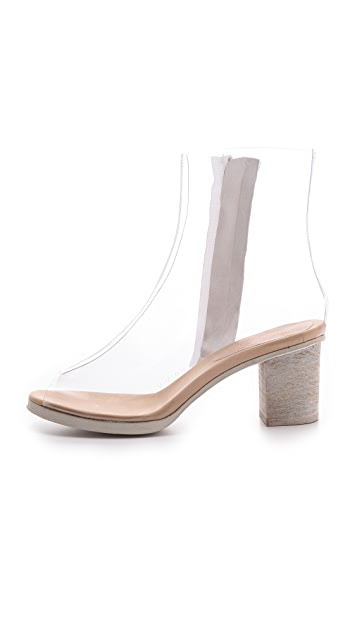 MM6 Clear Open Toe Booties