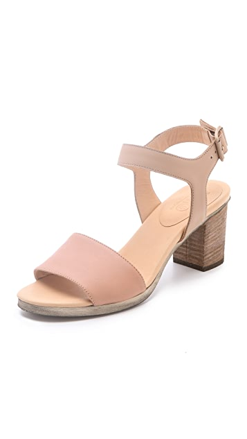 MM6 Contrast Band Sandals