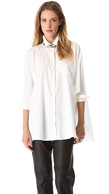 MM6 Dolman Button Up Blouse