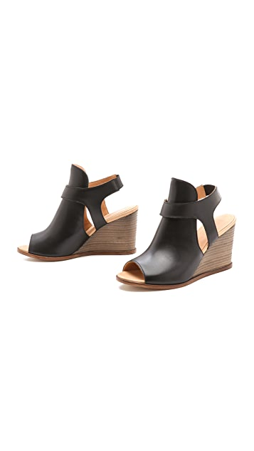 MM6 Sling Wedge Sandals