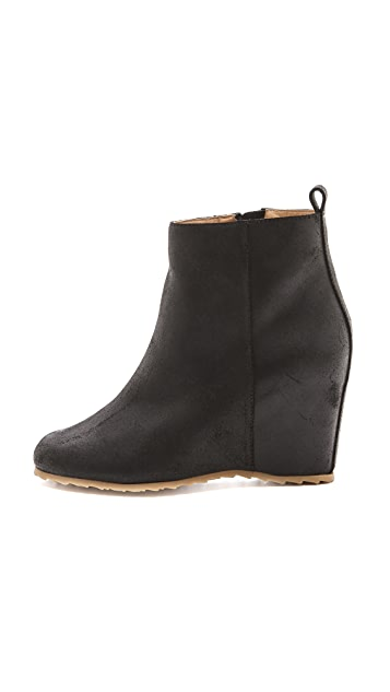 MM6 Wedge Heel Booties