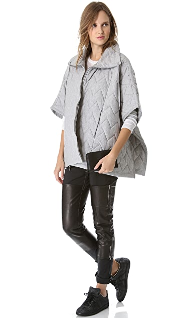 MM6 Quilted Poncho