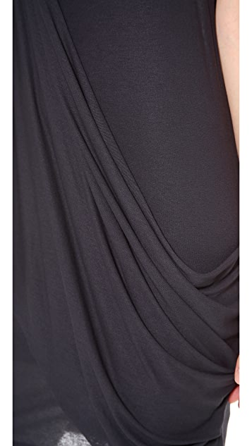MM6 Drape Sleeve Dress