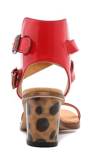 MM6 Leopard Heel Sandals