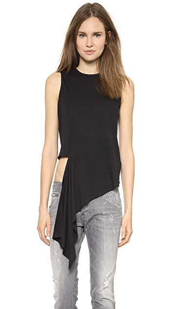 MM6 Asymmetrical Torn Top