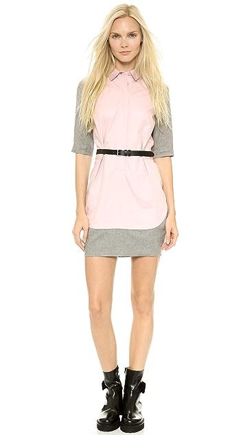 MM6 Poplin Combo Dress