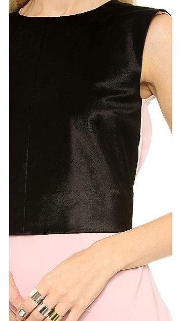 MM6 Layered Tuxedo Top