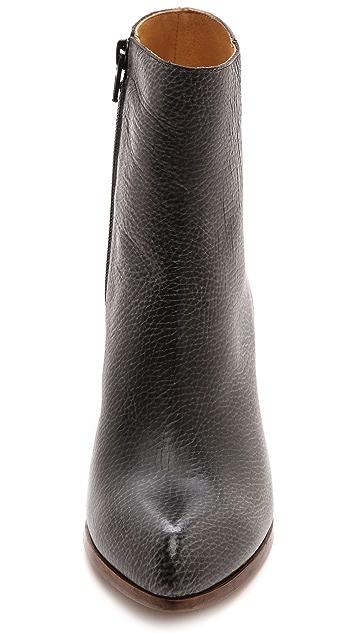 MM6 Short Booties with Metallic Heel