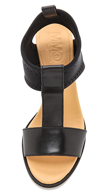 MM6 Neoprene Wedge Sandals