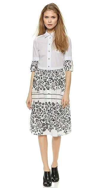 MM6 Printed Poplin Dress
