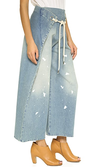 MM6 Stonewash Cropped Trousers