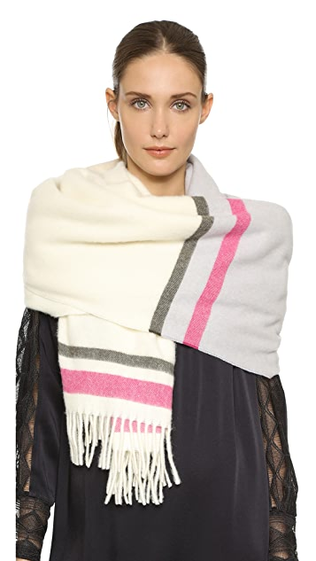 Maiyet Striped Cashmere Scarf