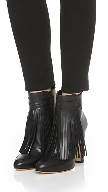 Maiyet Blake Fringe High Heel Booties