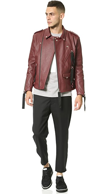 Matthew Miller Tyler Leather Biker Jacket