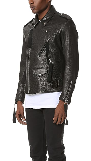 Matthew Miller Tyler Natural Grain Biker Jacket