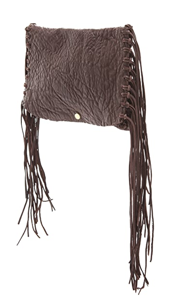 Mara Carrizo Scalise Fringe Clutch