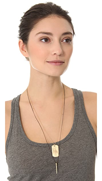 Mara Carrizo Scalise Long Horn Necklace