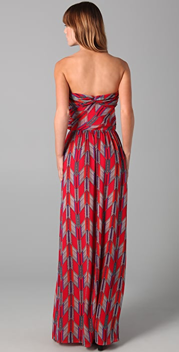 Mara Hoffman Strapless Twist Maxi Dress