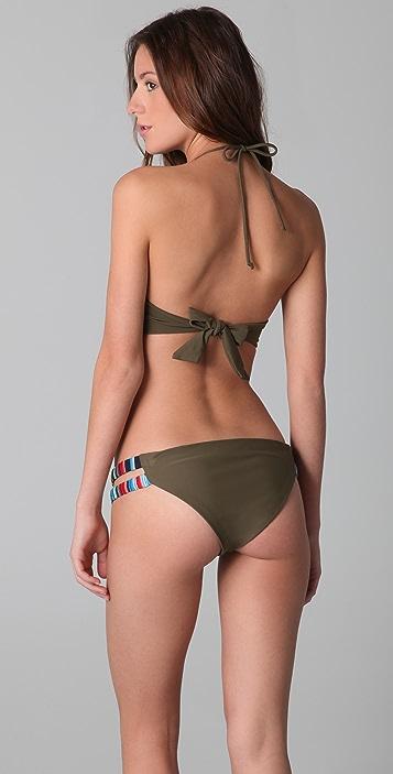 Mara Hoffman Embroidered Bustier Bikini