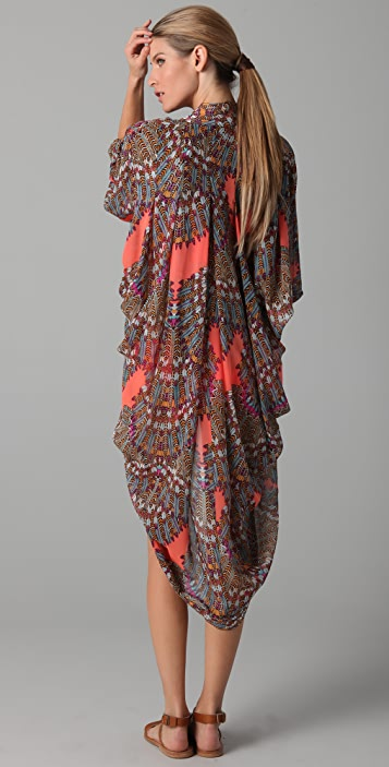 Mara Hoffman Long Chiffon Cocoon Cover Up