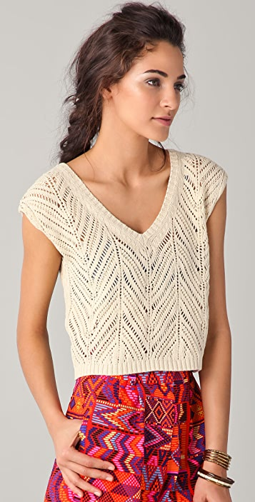 Mara Hoffman Crochet Top