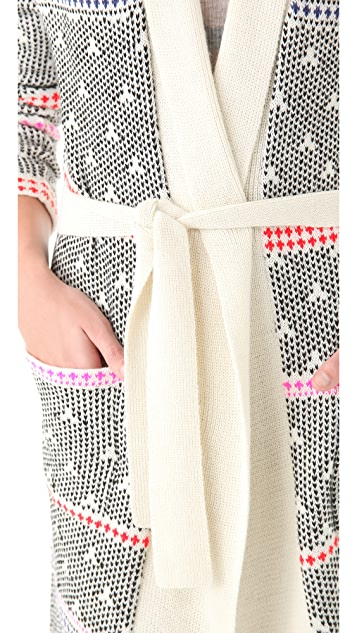 Mara Hoffman Long Scarf Sweater