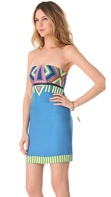 Mara Hoffman Embroidered Strapless Dress